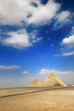 Pyramids. Tombs of the pharaohs in Giza, Egypt Stock Image