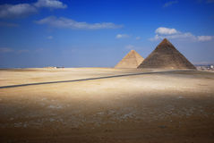 Pyramids. Tombs of the pharaohs in Giza, Egypt Royalty Free Stock Images