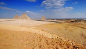 Pyramids. Tombs of the pharaohs in Giza, Egypt Stock Photo