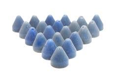 Abrasive pyramid isolated on white Royalty Free Stock Photo