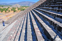 Pyramids on Avenue of the Dead, Teotihuacan, Mexico Royalty Free Stock Photo