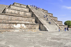 Pyramids on Avenue of the Dead, Teotihuacan, Mexico Stock Images