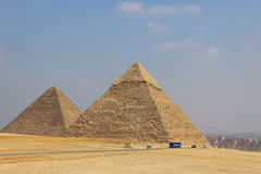 Pyramids on the background of Cairo. Egypt. Pyramids of Giza on the background of Cairo. Egypt Stock Image