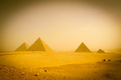 Pyramids of Cairo - Egypt Stock Photography