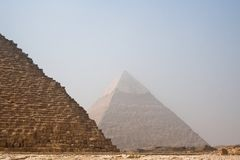 The Pyramids of Cheops and Khafre Royalty Free Stock Photography
