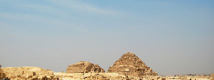 Pyramids In The Desert Of Egypt Giza Royalty Free Stock Image