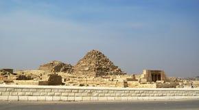 Pyramids In The Desert Of Egypt Giza Stock Photos
