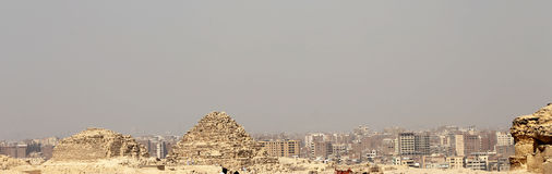 Pyramids In The Desert Of Egypt Giza Stock Photos