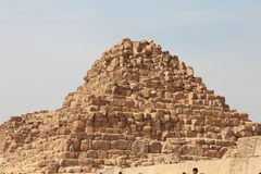 Pyramids In The Desert Of Egypt Giza Royalty Free Stock Images