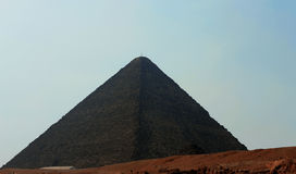 Pyramids in desert of Egypt in Giza Royalty Free Stock Images