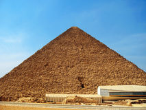 Pyramids in desert of Egypt in Giza Royalty Free Stock Photography