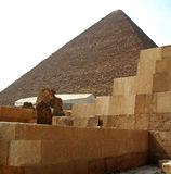 Pyramids in desert of Egypt in Giza Royalty Free Stock Photo