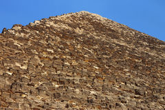 Pyramids in desert of Egypt in Giza Stock Photography