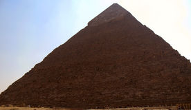 Pyramids In Desert Of Egypt In Giza Stock Images