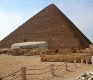 Pyramids in desert of Egypt in Giza Stock Photos