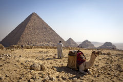 THE PYRAMIDS IN EGYPT. The Pyramids at Giza in Egypt stock photos