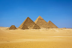 The pyramids in Egypt. The pyramids at Giza in Egypt Stock Image