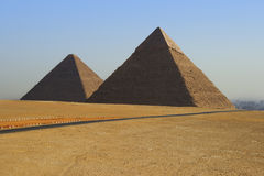 Pyramids of Egypt Stock Photo