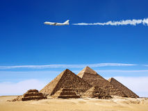 The pyramids in Egypt. Royalty Free Stock Photography
