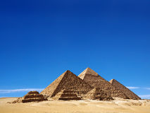 The pyramids in Egypt. Stock Photo