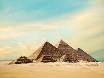 The pyramids in Egypt. Stock Image