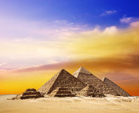 The pyramids in Egypt. Royalty Free Stock Image