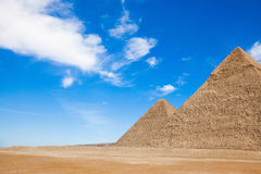 The Pyramids in Egypt Royalty Free Stock Photos
