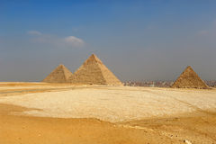 The Pyramids of Egypt at Giza Royalty Free Stock Photos