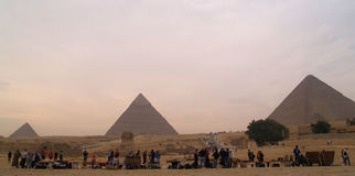Pyramids of Egypt royalty free stock images