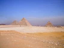 the pyramids in Egypt, during the sand storm was about to start taking pictures Royalty Free Stock Photography
