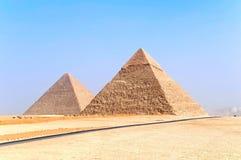 Pyramids of Giza. The pyramids of Giza, Cairo, Egypt Stock Photo