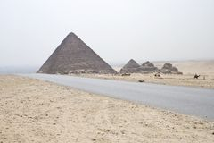 Pyramids of Giza Stock Image