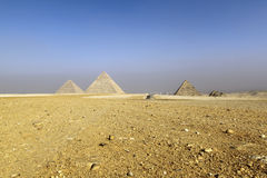 Pyramids of giza. In cairo city Royalty Free Stock Photography