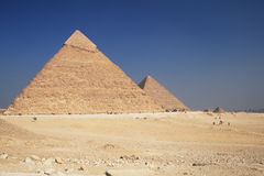 The Pyramids in Giza. The great ancient Pyramids in Giza, near Cairo (Egypt Royalty Free Stock Photography