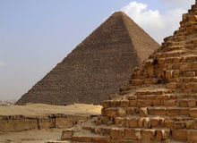 Pyramids of giza 34. One of the great pyramids of giza in Egypt Royalty Free Stock Image