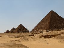 Pyramids at Giza Stock Photos