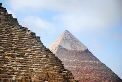 The Pyramids of Giza stock photos