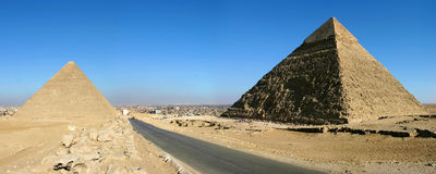 Pyramids of giza in Cairo Stock Images