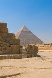 Pyramids of Giza, Cairo Royalty Free Stock Photos