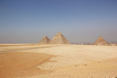 The Pyramids of Giza, Cairo, Egypt. Royalty Free Stock Image