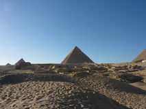 The Pyramids of Giza, Cairo Egypt Stock Photos