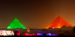Pyramids of Giza in Cairo Stock Photo