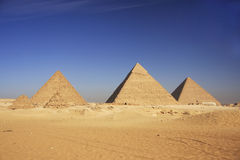 Pyramids of Giza, Cairo Stock Photo
