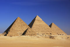 Pyramids of Giza, Cairo. Pyramids of Giza, Giza Plateau, Cairo, Egypt Royalty Free Stock Photos