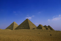 pyramids in Giza, Egypt stock photography