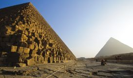 The Pyramids in Giza, Egypt Stock Photo