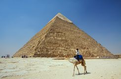 The Pyramids at Giza in Egypt Royalty Free Stock Photo
