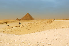 The pyramids at Giza Royalty Free Stock Photo