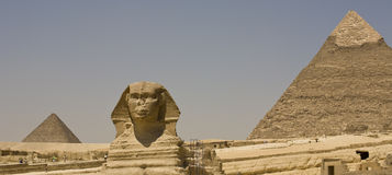 Pyramids at Giza Egypt. Great Pyramid of Giza and Giza Necropolis Sphinx, Giza Plateau, Cairo, Egypt Royalty Free Stock Photo