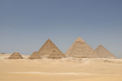 The pyramids of Giza, Egypt Stock Images